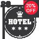 20 Hotel Vintage Labels