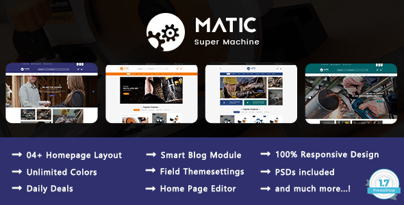 Image of Matic - Super Machine Responsive Prestashop 1.7 Theme