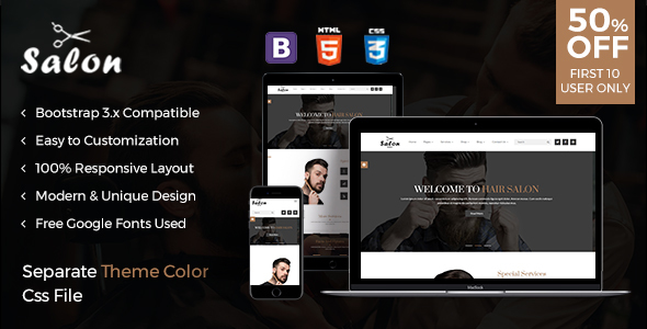 The Salon - Responsive html template for Salon and Spa