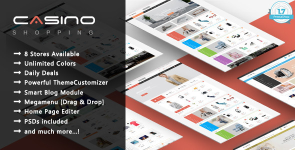 Image of Casino - Shopping Responsive Prestashop 1.7 Theme