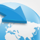 Blue Glossy Globe Internet Icon  - GraphicRiver Item for Sale