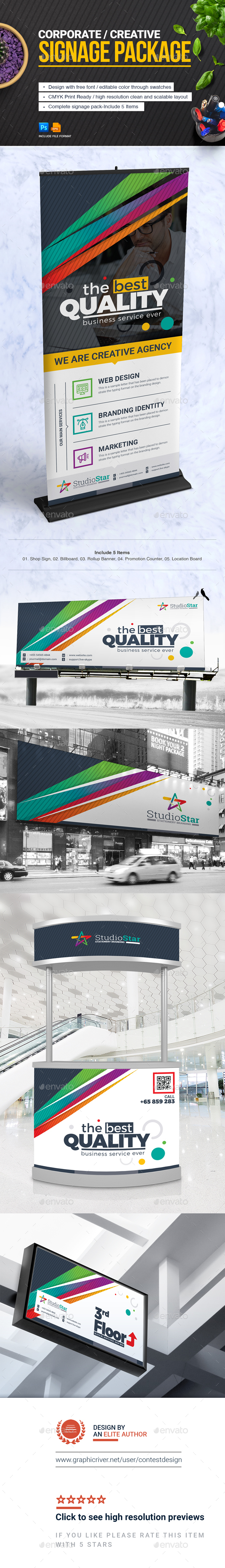 GraphicRiver Corporate Signage Solution Package 20739114