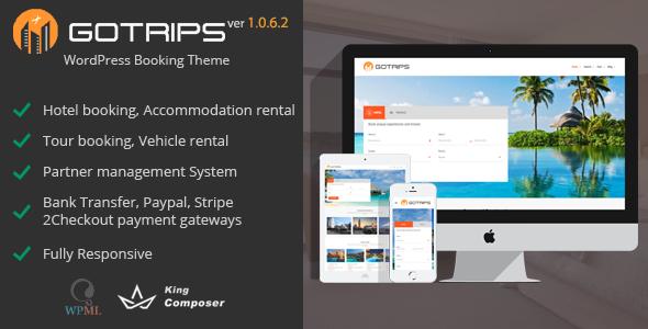 Image of Gotrips   WordPress Booking Theme