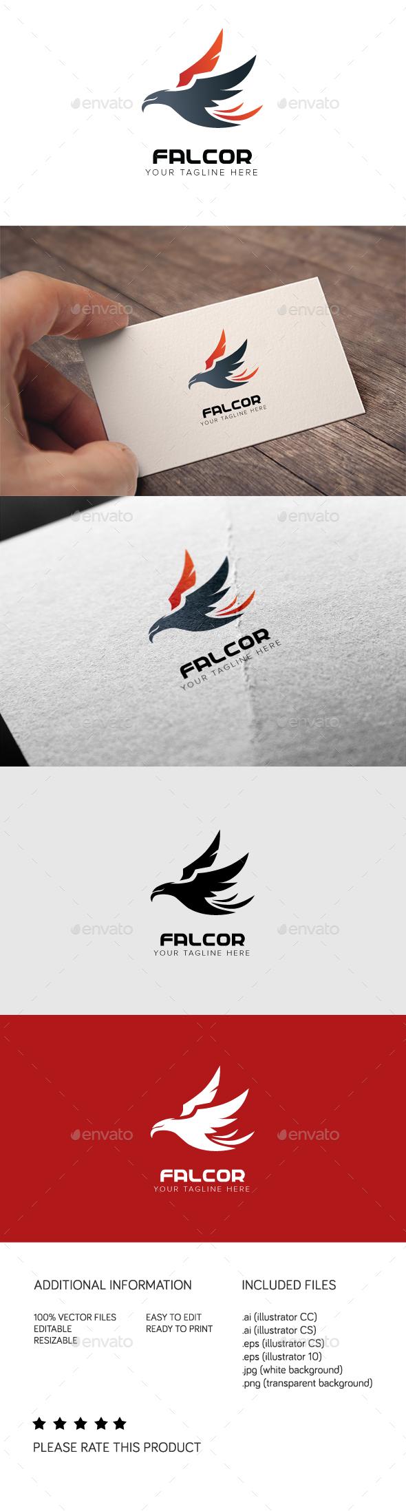 Falcor Logo - Animals Logo Templates