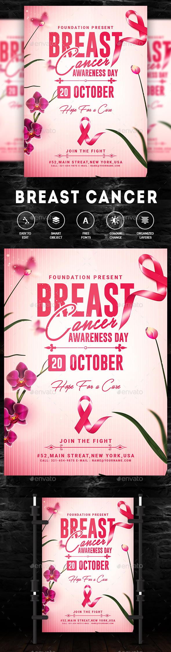 Breast Cancer Awareness Month Flyer - Events Flyers