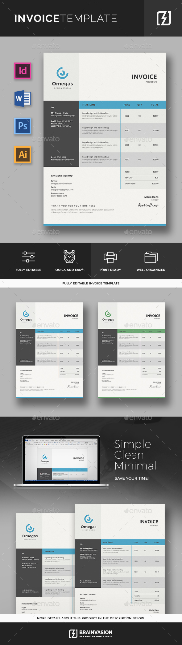 Canadian Commercial Invoice Word Business Proposal  Invoice Templates From Graphicriver Invoice Finance Company Word with Receipt Spelling  Gst Tax Invoice Excel
