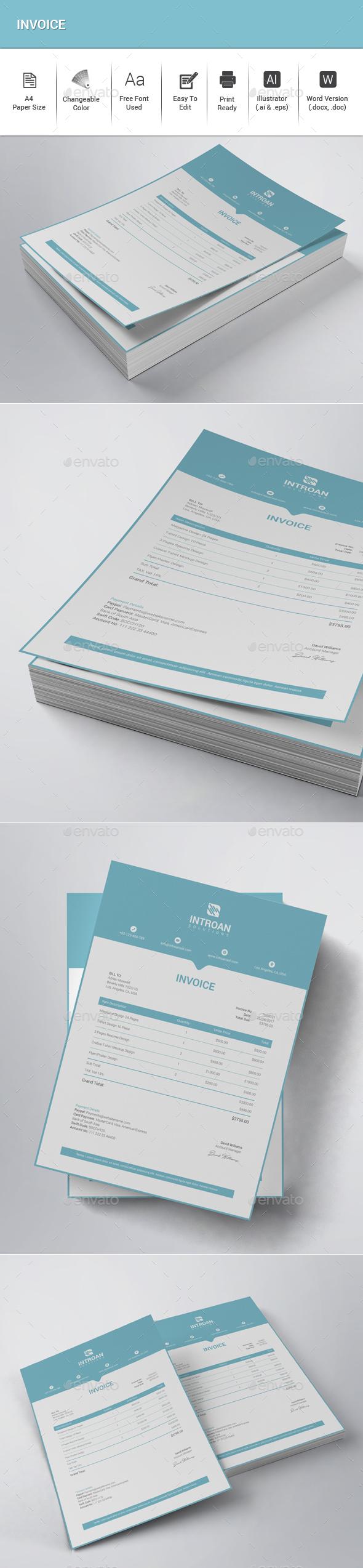 GraphicRiver Invoice 20739534