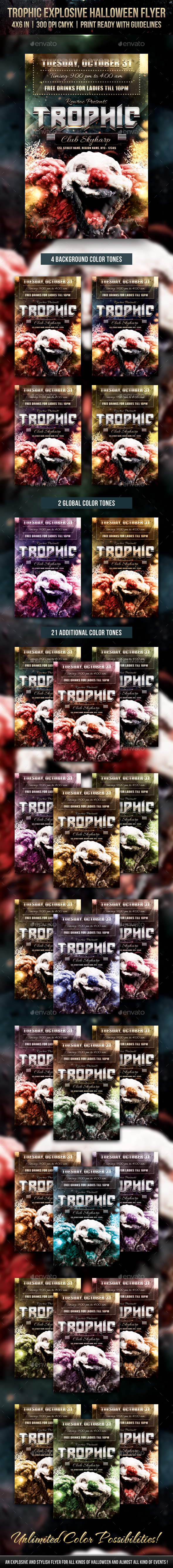 Trophic Explosive Halloween Flyer - Holidays Events