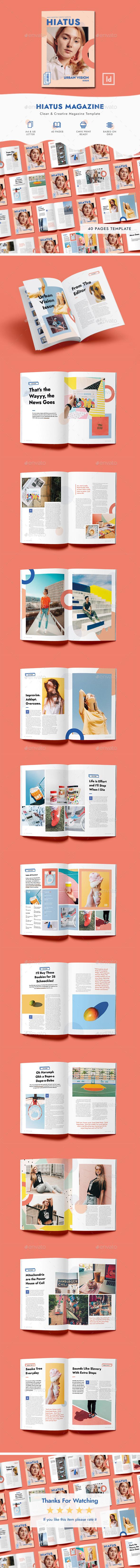 Hiatus Magazine Template - Magazines Print Templates