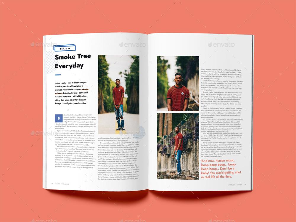 Hiatus Magazine Template by Danibernd | GraphicRiver