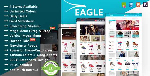 Image of Eagle - Minimalist Shopping & Accessories Responsive Prestashop Theme