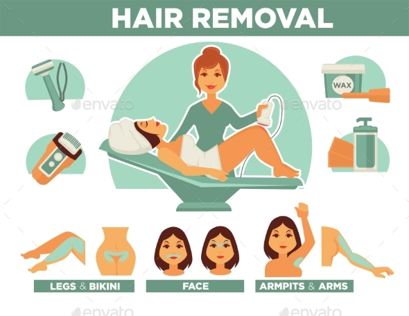 Professional Hair Removal From Body and Face - People Characters