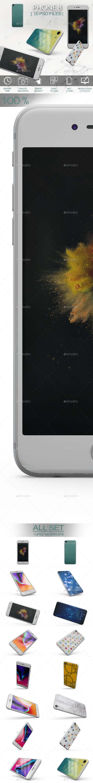 Phone 8 App Skin MockUp - Product Mock-Ups Graphics