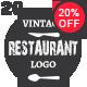 20 Restaurant Vintage Labels
