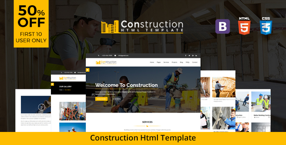 The Construction - Responsive HTML5 Template for Construction and Renovation