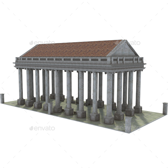 Original Classic Greek Structure - Architecture 3D Renders