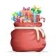 Bag Full of Christmas Gifts
