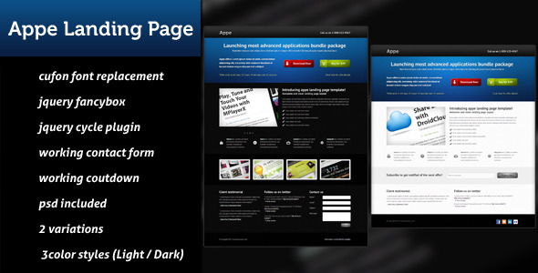 Appe Landing Page - Marketing Corporate