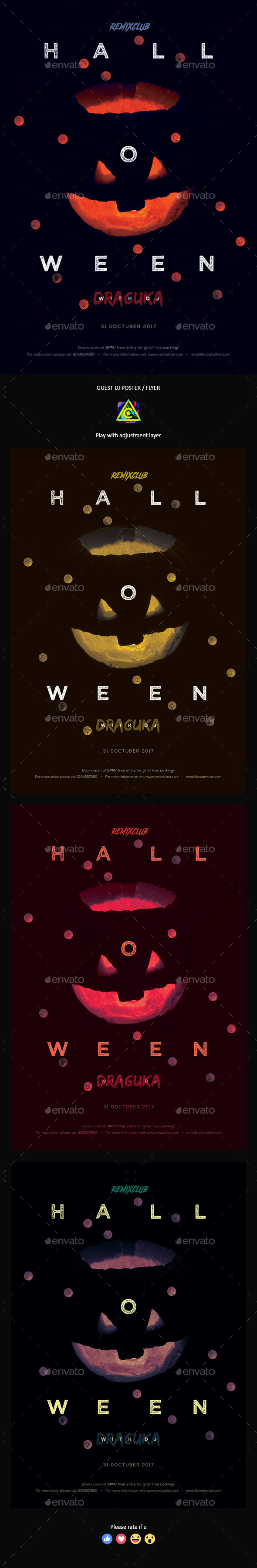 Halloween Poster / Flyer - Clubs & Parties Events