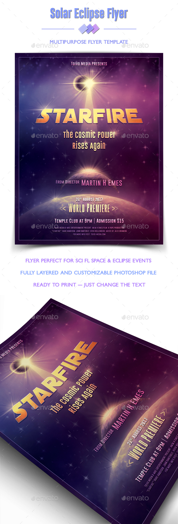 Eclipse Flyer - Clubs & Parties Events