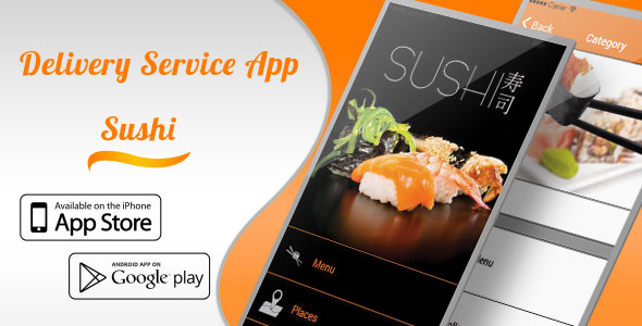 Sushi Delivery Service and Restaurant App