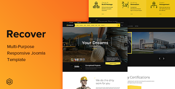 ThemeForest Recover Multi-Purpose Responsive Joomla Template 20740816