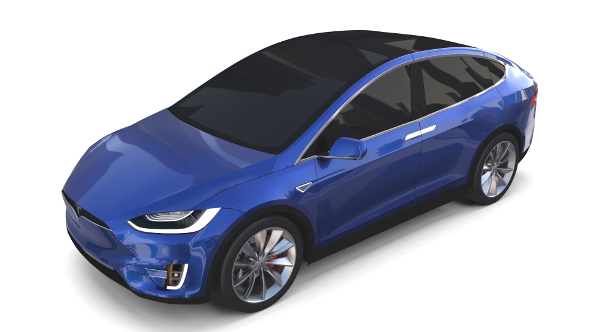 Tesla Model X Blue - 3DOcean Item for Sale
