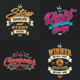 Typography Badges And Labels Vol.8