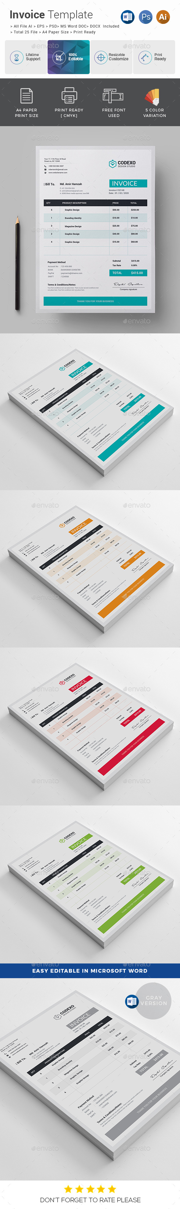 Creative Invoice - Stationery Print Templates