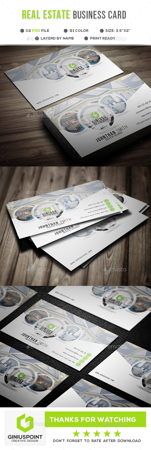 Real Estate Business Card - Corporate Business Cards