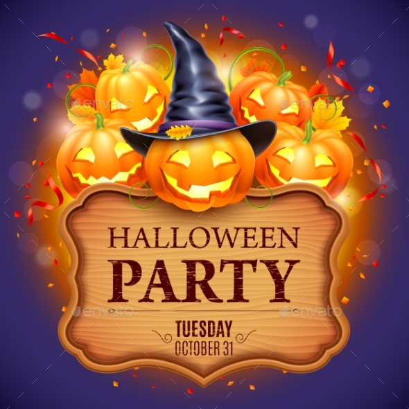 Halloween Party Poster - Halloween Seasons/Holidays