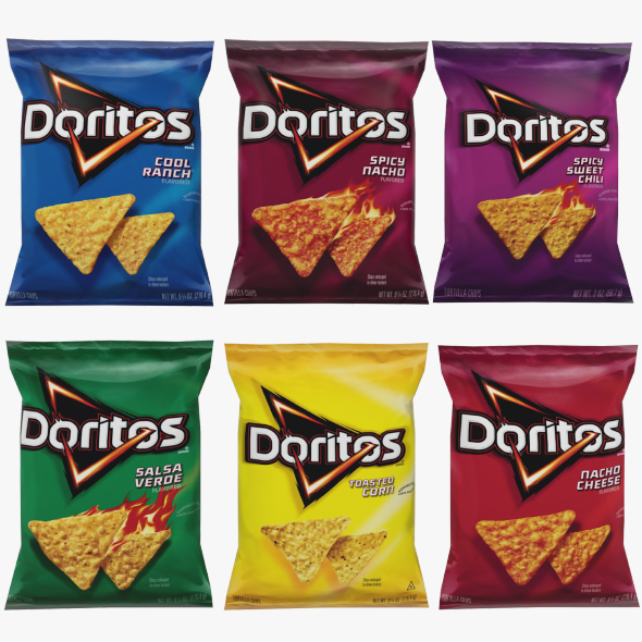 3DOcean Doritos Chips Low Poly 20741402
