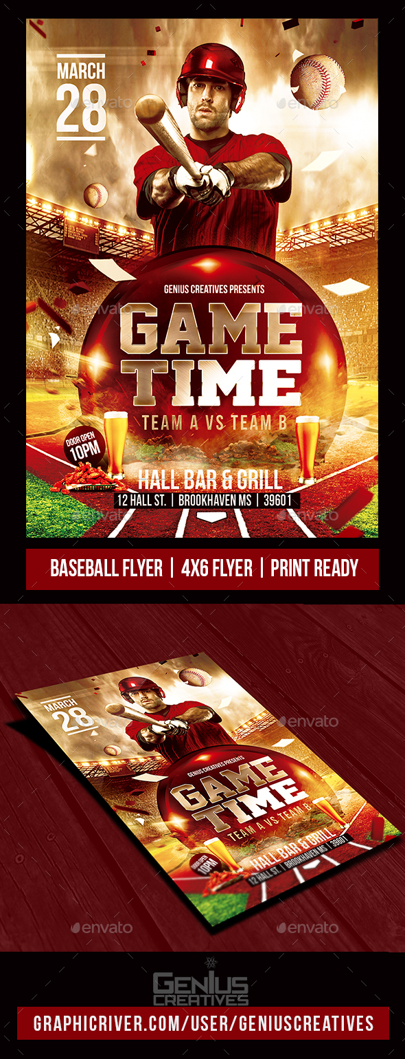 Baseball Flyer Graphics, Designs & Templates from GraphicRiver