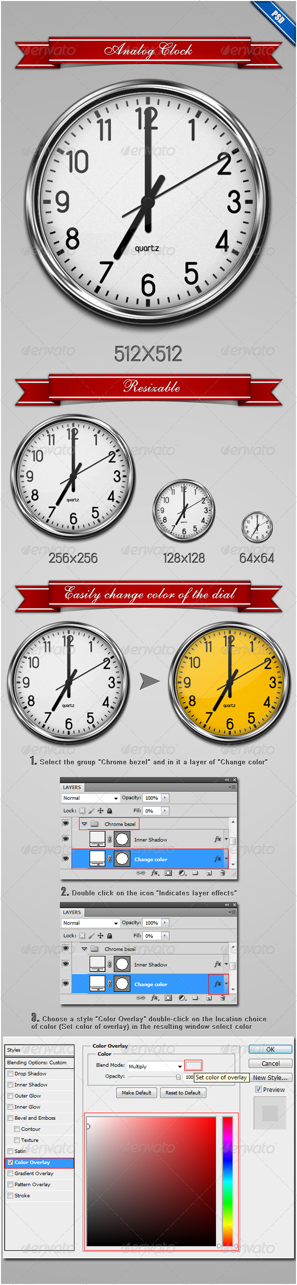 Analog Clock - Web Icons