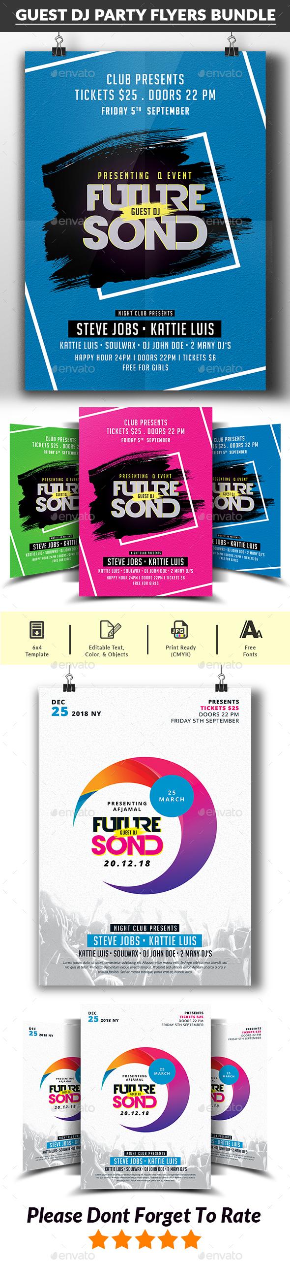 Guest DJ Party Flyer Bundle - Clubs & Parties Events