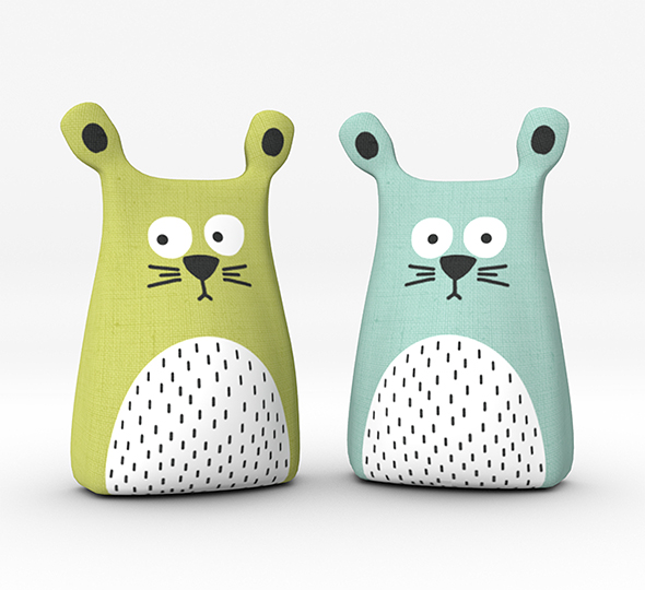 Children's Cat Pillows - 3DOcean Item for Sale