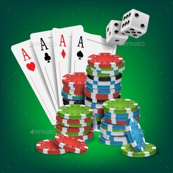 Casino Poker Design Vector - Miscellaneous Vectors