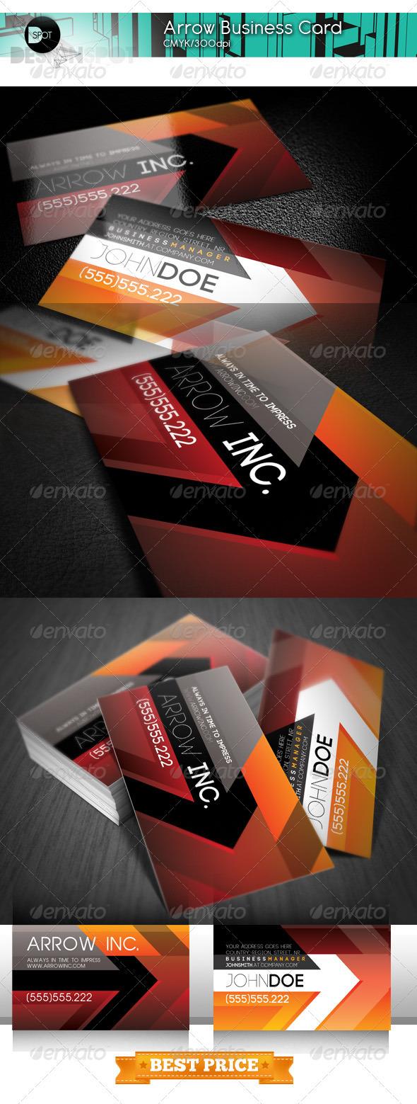 +Arrow Business Card - Creative Business Cards