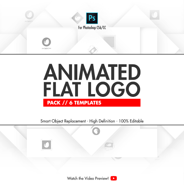 GraphicRiver Animated Flat Logo Pack 6 Photoshop Templates 20741691