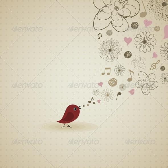 Birdie sings - Animals Characters