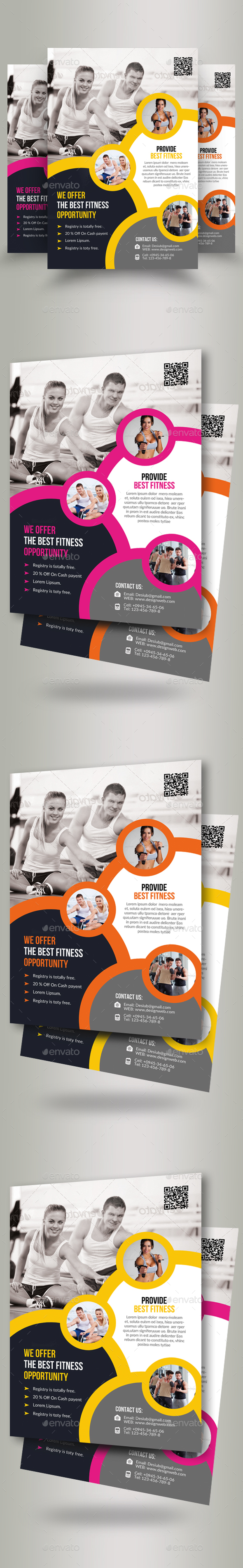 GraphicRiver Body Fitness Gym Flyer 20742054