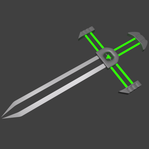 Sci-Fi Fantasy Sword - 3DOcean Item for Sale