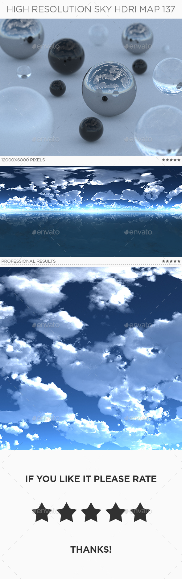 High Resolution Sky HDRi Map 137 - 3DOcean Item for Sale