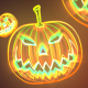 Neon Halloween Pumpkin Background - VideoHive Item for Sale