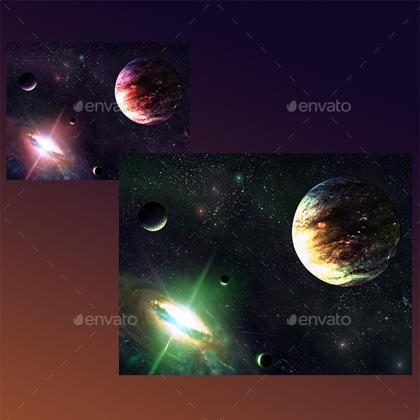 Space Parallax Background - Backgrounds Game Assets