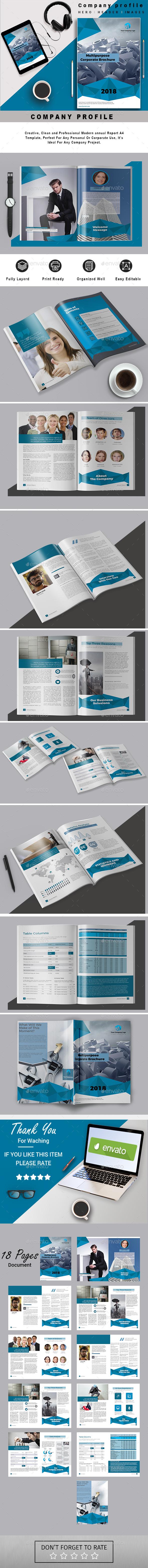 A4 Multipurpose Corporate Brochure #22 - Corporate Brochures