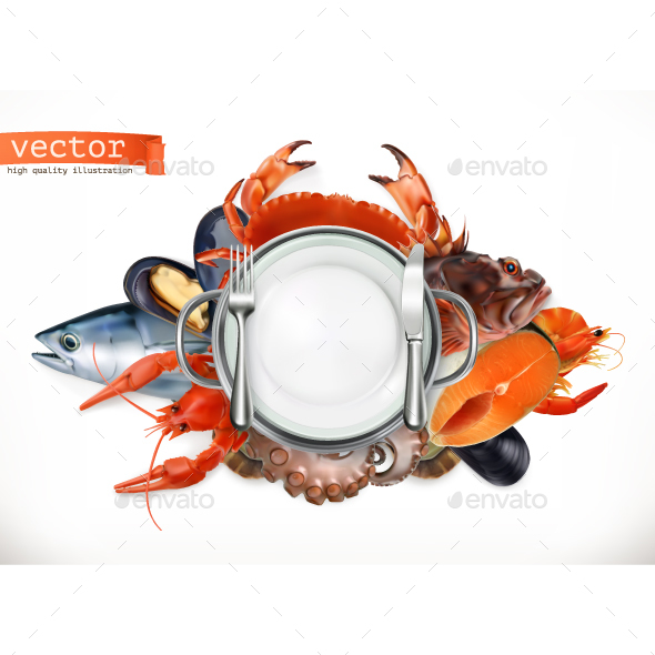 Sea Food Logo - Vectors