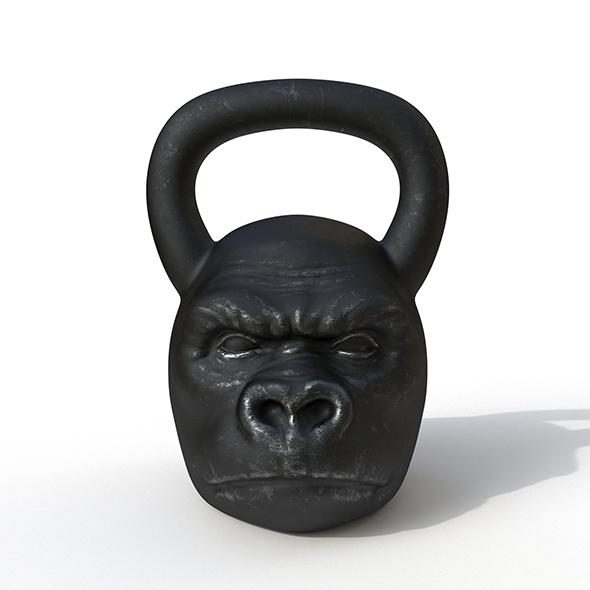 Kettlebell Monkey - 3DOcean Item for Sale