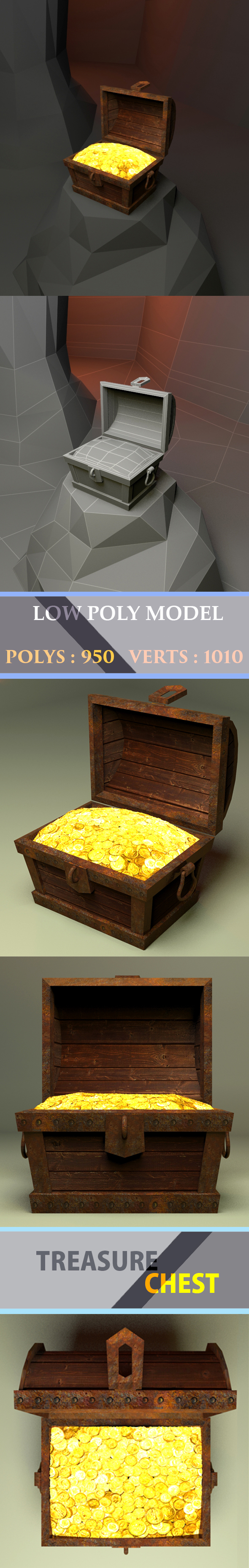 3DOcean Treasure chest Low Poly 20742428