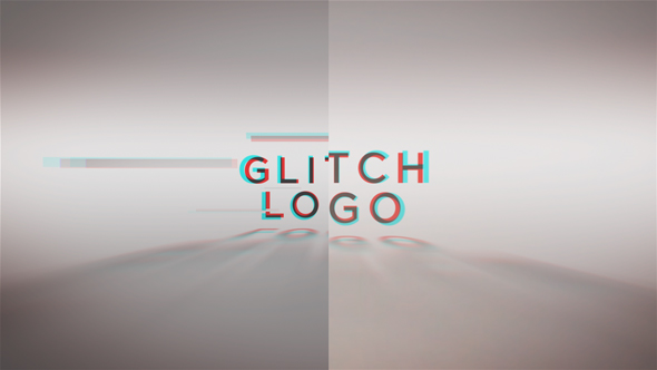 Glitch Words Logo Reveal | 2 versions